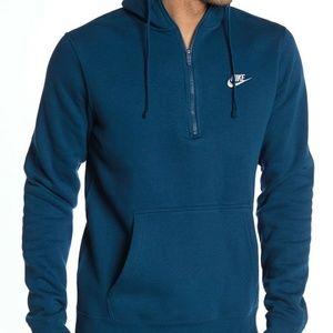 Nike Blue Force/ White Club 1/4 Zip Hoodie